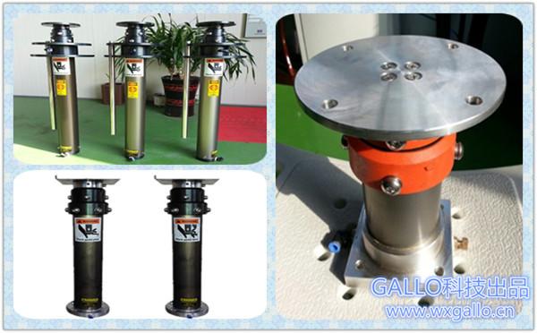 小型气动升降杆支架,气缸升降平台图片